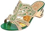 PAOLIAN Sandalias y Chanclas para Mujer Verano 2018 Zapatos de Plataforma Moda Chanclas con Diamante Open Toe Noche Transparente Mujer Fiesta Zapatos de Boca de Pescado (36, Verde)