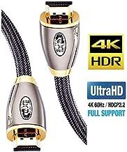 IBRA Cavo HDMI 4K Ultra HD 1,5M - Ethernet ad Alta Velocità Cavo 2.0b 18 Gbps 4K@60Hz UHD 2160p - PRO GOLD RED