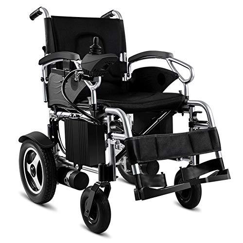 Starsmyy Opvouwbare, compacte rolstoel, lichtgewicht elektrische rolstoel, oprolbare draagbare binnen/buiten-elektrische rolstoel
