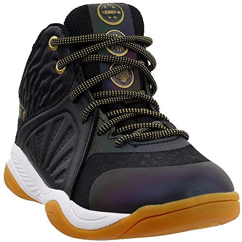 AND1 Boys Attack Mid Boys (Little Kid/Big Kid) Basketball Casual Shoes, Black, 3