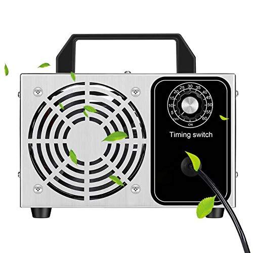 HD2DOG Ozonmaschine Mit Zeitschaltuhr, 220 V Tragbarer Gewerblicher Industrieller Edelstahl-O3-Desodorierungs-Sterilisator-Luftreiniger Für Haus, Auto Und Boot,28g