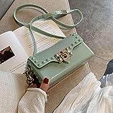 XCHJY Kleine Tasche weibliche Mode Wilde Umhängetasche Mädchen Kuriertasche-Matcha grün