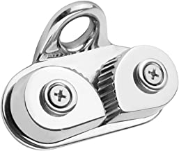 H HILABEE Stainless Steel 316 Boat Cam Cleat Matic Fairlead With Wire Leading Ring