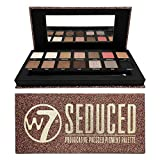 W7 | Seduced Pressed Pigment Palette Makeup | Tones: Cream Mattes, Metallic Shimmers | Colors: Delicate Nudes, Golds, Pinks and Smokes | Cruelty Free, Vegan Makeup For Women