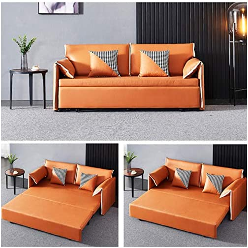Convertible Sleeper Sofa Bed, Loveseat Fold Out Bed,Modern Fabric Sofa Bed Couch with Armrest, Fold Up & Down Foam Couch…