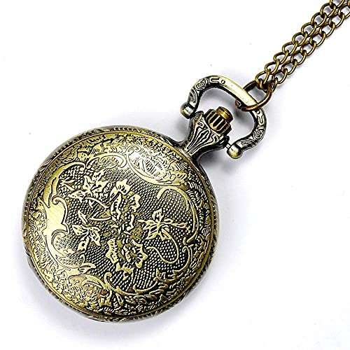 Colgante de reloj creativo, reloj de bolsillo creativo para hombres con números romanos, esqueleto dorado para relojes de bolsillo mecánicos para hombres, exquisito reloj de bolsillo tallado en la par