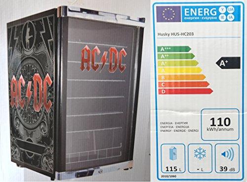 Husky HUS-HC 203 Highcube High Cube Flaschenkühlschrank ACDC/A+ / 83,5 cm Höhe / 110 kWh/Jahr / 130 L Kühlteil inkl. Reinigungstuch
