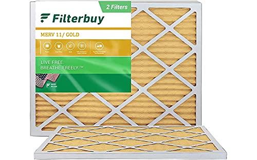 FilterBuy 17x20x1 Air Filter MERV 11, Pleated HVAC AC Furnace...