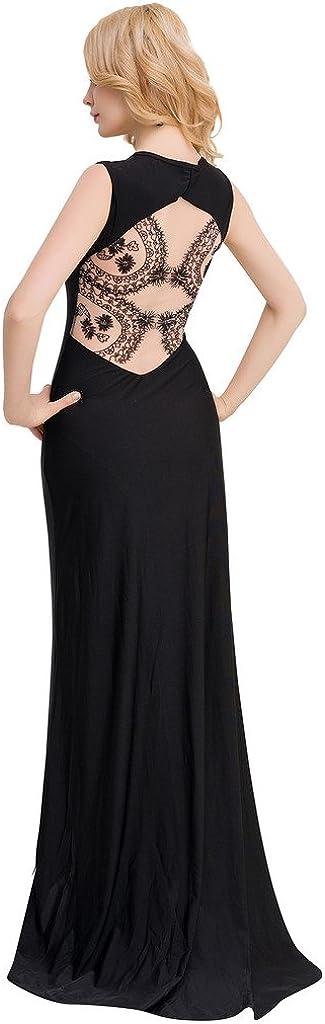 ohyeah Women Elegant Vintage Formal Dress Square Collar Backless Formal Dress
