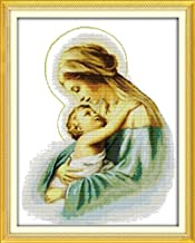 Holy Mother &Holy Son(3) Cross stitch kits DMC Cotton People Print Paintings Embroidery DIY Handmade Needlework Home Decor Ricamo (11CT picture printe)