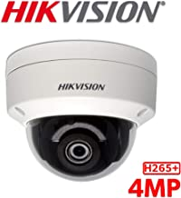 Hikvision 4MP H265+ 2K HD 4.0mm Lens DS-2CD2143G0-I PoE IP Network Dome Security Camera with EXIR 98ft Night Vision, Smart H.265+ WDR, SD Card Slot, ONVIF, IP67 [English Version]