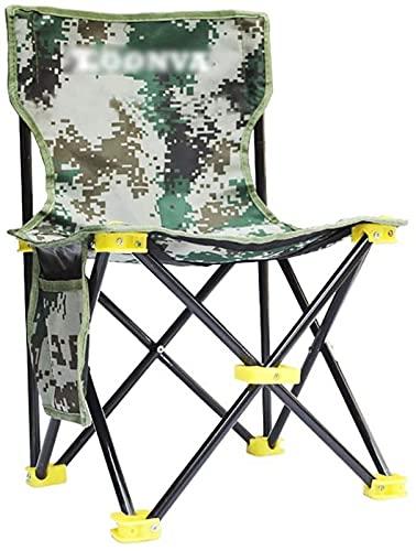 ZJDM Taburete Plegable para Silla al Aire Libre Taburete Plegable para Silla de Camping con Respaldo Taburete Plegable portátil, Pesca, Picnic, Viajes y Senderismo