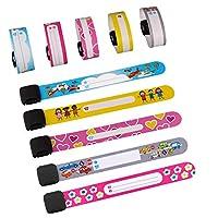 WATERPROOF & SAFETY - Il braccialetto di sicurezza per bambini è stato realizzato in PVC, è impermeabile e abbastanza sicuro per i bambini. DUREVOLE E RIUTILIZZABILE - Progettato appositamente per i bambini, il nostro braccialetto di sicurezza è resi...