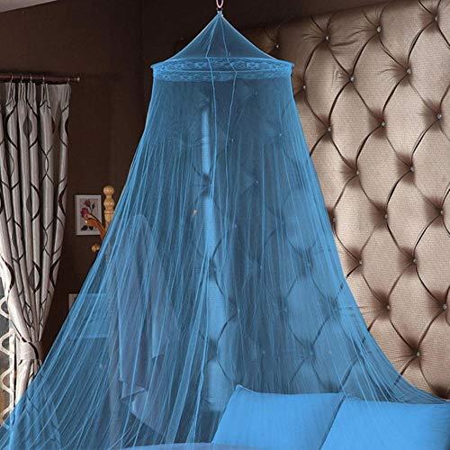 Mingi 1PC Summer Hung Dome Moskitonetze für Schlafzimmer Polyester Mesh Stoff Massivbett Baldachin Rundbett Vorhänge, A.