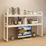 Pequeño escritorio con soporte de mesa, escritorio estante de libros, de revistas, montado en rack...