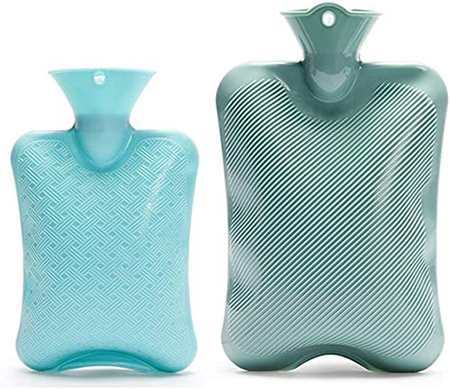 Hot Water Bottle FENGNVHot Water Bottle 2 Pack Classic Rubber Hot Water Bags for 2 Different Sizes, 2 Liter/1 Liter0104