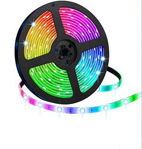 LED Strip Lights,SNIMICS 5M/16.4ft LED Sync to Music Color Rope Lights SMD 5050 RGB with Bluetooth Controller Changing Tape Lights kit for TV,Bedroom,Party,Christmas Decoration