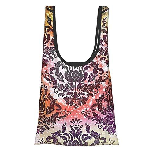 Bunte Vintage-R Wasserfarben-Effekt, orientalisch, arabisch, Damast, Kronleuchter, Muster, traditionelle Kunstdrucke, Bett, Mehrfache wiederverwendbare Einkaufstasche, umweltfreundliche Einkaufstasche