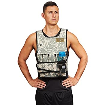 Cross 101 Adjustable Weighted Vest 40 lbs  Camouflage  With Phone Pocket & Water bottle holder