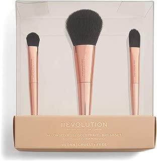 Makeup Revolution Reloaded Travel Brush Set, Rose Gold, 3 g