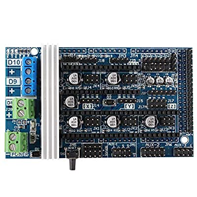 3D Printer Ramps 1.6 Controller Board Expansion Control Panel with Heatsink for Reprap Prusa Mendel Arduino Ramps 1.4/1.5 Replacement