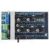 Jopto Rampas de impresora 3D 1.6 Panel de control de expansión con disipador de calor para rampas Reprap Prusa Mendel Arduino 1.4/1.5 de repuesto