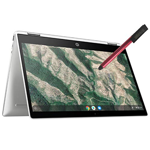 """HP Chromebook X360 14"""" Convertible 2-in-1 Touchscreen Laptop Computer_ Intel Celeron N4000 up to 2.6GHz_ 4GB DDR4_ 32GB eMMC_ AC WiFi_ Type-C_ Webcam_ Remote Work_ Chrome OS_ BROAGE 32GB Flash Stylus"""