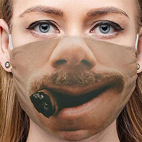 Youning Lustig Mundschutz Wiederverwendbare Outdoor Unisex Staub Mund und Nasenschutz 3D Motiv Mundschutz Multifunktionstuch Erwachsene Mundschutz Face Halstuch Schals