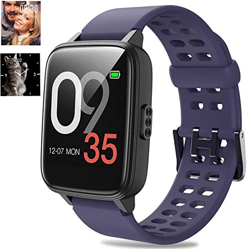 Jogfit Smartwatch Orologio Fitness Tracker Donna Uomo, Smart Watch Nuoto Impermeabile IP68 Cardiofrequenzimetro da Polso Activity Tracker Sport Contapassi Calorie Smartband Bambini Android iOS