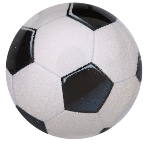Morella Unisex Glas Click-Button Druckknopf Fußball