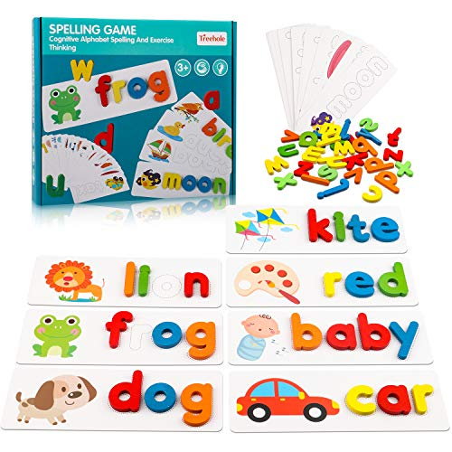 Toys for 3 4 5 Years Old Girls Boys, See & Spell Word Games for Toddlers Age...
