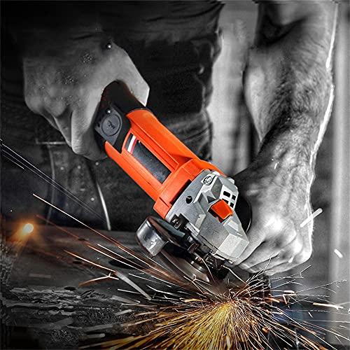 ALUNYAN Amoladora angular pequeña herramienta de amoladora de ángulo, pulidora y corte de una máquina para uso dual, para cortar, pulir y lijar metal y baldosas de cerámica y madera