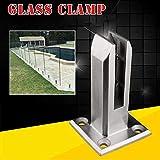 HaroldDol Soporte para cristal 40 unidades, 8-10 mm, acero inoxidable pulido
