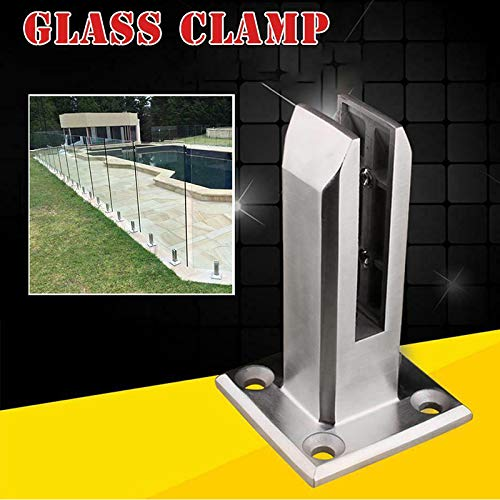 Apoorry - Espátula de cristal para escaleras, balcón, piscina, baranda de balaustrada, acero inoxidable 304, clip de seguridad para escaleras, barandillas, jardín