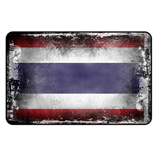 Cadora Magnetschild Kühlschrankmagnet Flagge Thailand shabby chic abverwendet alt gebraucht