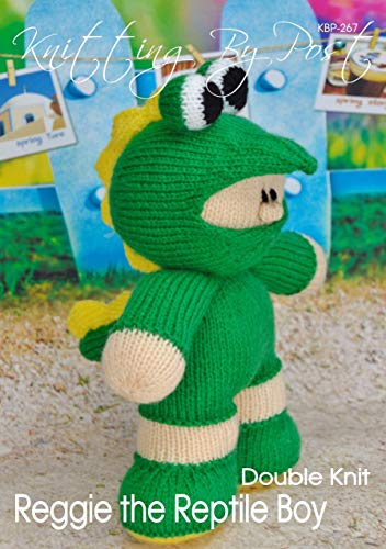 Knitting Pattern for Reggie the Reptile Boy Soft Toy. Quick, Easy UK Knit Handmade Gifts.: Make your own knitted cheeky reptile boy.  He is half lizard ... boy. (Knitting by Post) (English Edition)