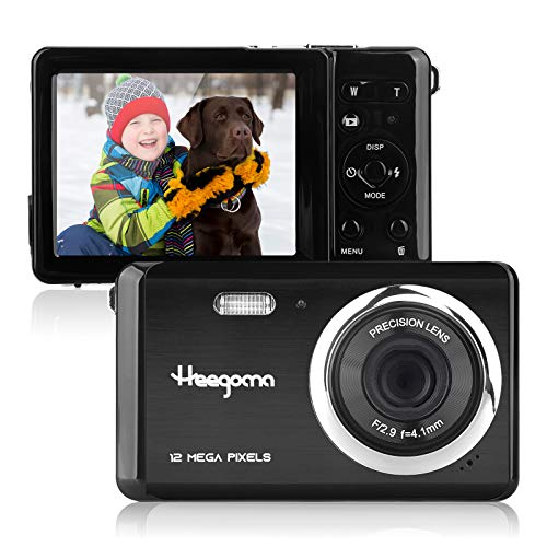 """Digital Camera for Kids, 12MP 2.8"""" LCD Screen Rechargeable Mini Digital Camera, Point Shoot Digital Camera 1080P Video Camera for Kids/Teens/Beginners Gift"""