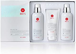 AC Care Bee's Acne and Pimples Skin Care Treatment 3 Step (Pure Skin, Foaming Cleanser and Moist Lotion)