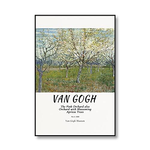 Famoso pintor Vincent Van Gogh retrato girasol artista impresión artística lienzo pintura sala de estar decoración del hogar C 30x40cm