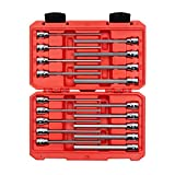 TEKTON 3/8 Inch Drive Long Hex Bit Socket Set, 18-Piece (1/8-3/8 in, 3-10 mm) | SHB91303