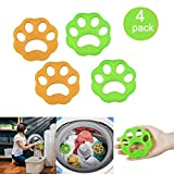 DKStarry Washing Machine Hair Remover, Laundry Hair Remover Balls, Reusable Cleaning Ball for Laundry Floating ,Pet Fur Catcher Filtering Hair Removal Device (4Pcs)