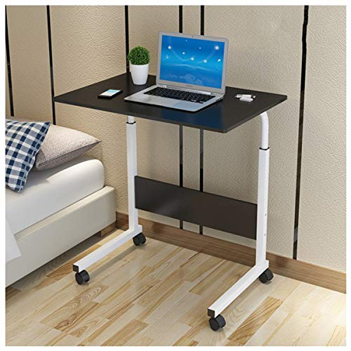 Laptop Schreibtisch, Beistelltisch Tragbarer Konferenztisch Schlafsofa Rolltisch Mit 4 Rollen Einfach Einzustellen (Color : Black Willow)