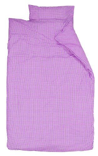 Parure Taftan avec housse de couette - Motif : petits et grands carreaux - 100 x 135 cm - Pour berceau
