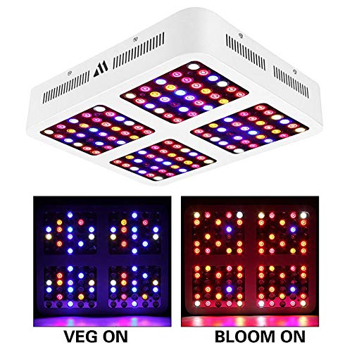 MORSEN LED Grow Light Full Spectrum 1200W Plant Growing Lights with Dual Switch & Dual LED Chips, Three Modes Adjustable for Indoor Veg and Flower,etc