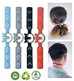 Fascetta di estensione per elastici delle mascherine protezione per le orecchie,4 colori, in silicone, per adulti e bambini