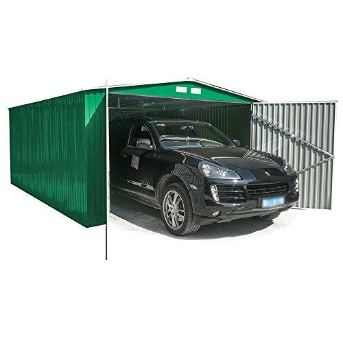 Box Casetta Garage in lamiera zincata giardino esterno 380x480xh232cm GARAGE XL