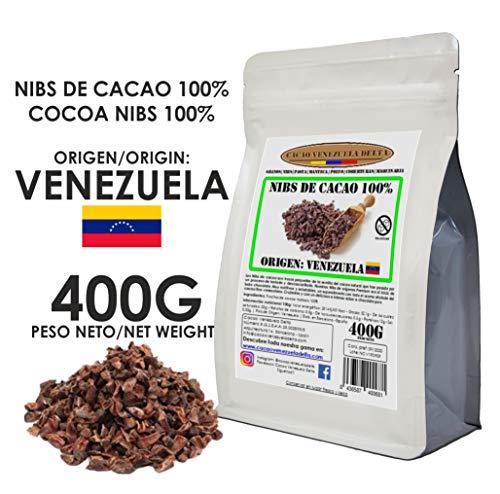 Cacao Venezuela Delta - Nibs De Cacao · Origen Venezuela · 400g - Calidad Premium