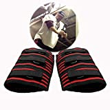 A Pair Weightlifting Elbow Sleeves, Strong Powerlifting Elbow Brace, Adjustable Elbow Support Compression for Men, Strongman (XL)