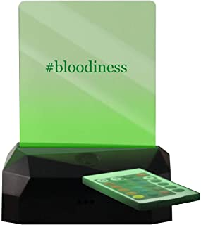 #Bloodiness - Hashtag LED Rechargeable USB Edge Lit Sign