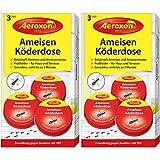 Aeroxon - Ameisenfalle, Ameisenköderdose - 2x3 Dosen - Bekämpft Das Ganze Ameisennest
